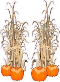 pumpkin clipart corn stalk pencil and in color pumpkin clipart