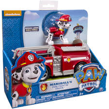 nickelodeon paw patrol marshall u0027s fire fightin u0027 truck vehicle