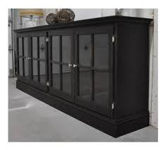 Media Cabinets With Glass Doors Media Cabinet With Glass Doors In Aged Black By Sigahdesigns