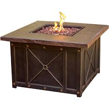 Ebay Firepit Cambridge 40 In Square Gas Pit With Durastone Top