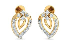 daily wear diamond earrings daily wear diamond earrings in 14k hallmarked gold