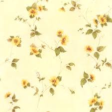 414 45177 yellow floral trail august brewster wallpaper