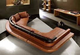 living room furniture modern leather sofa with coffee table and