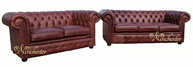 Chestnut Leather Sofa Chesterfield Suite 3 2 Seater Settee Old English Chestnut Leather Sofa