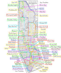 Map Of Lower East Side New York by New York City Maps And Neighborhood Guide Within Map Of Manhattan