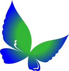 Blue And Green Butterfly - butterfly clip 170 best free clip drawings of