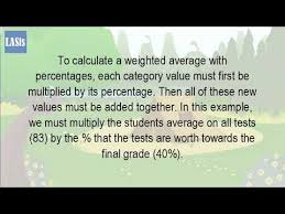 rapid tables grade calculator how do you calculate a weighted grade youtube