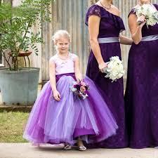 wholesale 2016 designer tulle purple flower dresses easter