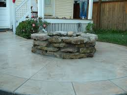 Patio Concrete Stain Ideas by Images About Patio Ideas Stamped Concrete Latest With Firepit