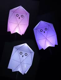 printable wax paper geometric ghost boxes for treats holidays