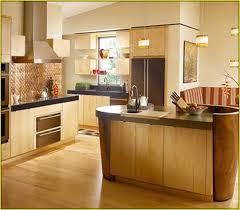 interesting kitchen green color schemes with oak cabinets n