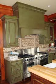 distressed green kitchen cabinets design home design ideas