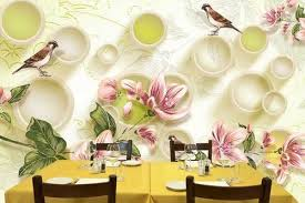 3d wallpaper for walls with sparrow and flower at rs 65 square