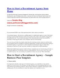 how to start a recruitment agency from home business ideas kenya nige u2026