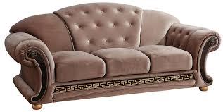 Brown Fabric Sofa Set Versace Beige Sofa Versace Esf Furniture Fabric Sofas At Comfyco