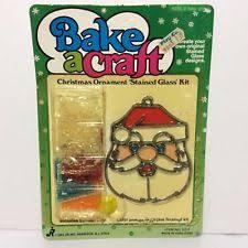 vtg 50250 makit bakit stained glass ornament kit angel tree santa