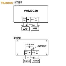 voltage meter 20a led dual display digital power voltmeter ammeter