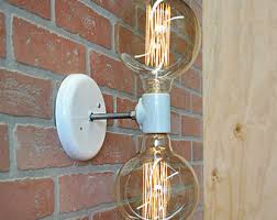Double Light Wall Sconce Wall Sconce Industrial Lighting Wall Sconce Industrial