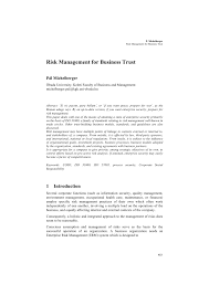 Organizating by Risk Management For Business Trust Pdf Download Available