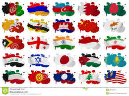 Map Of Asia Countries Asia Countries Flag Blots Part 1 Stock Image Image 29778531
