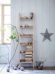 Short White Bookcase by Corner Ladder Display Bookcase Made Of Wood In Black Finished