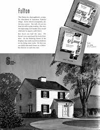 sears fulton 1940 american colonial architecture pinterest