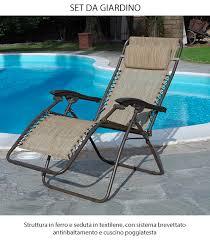 sedia sdraio giardino sedia sdraio reclinabile ecru antiribaltamento richiudibile