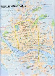 Map Of China With Cities by China Fuzhou Map Tourist Attractions Hotels City Layout