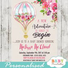 air balloon baby shower invitations zoom air balloon