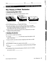 volcanoes and plate tectonics worksheet answers free worksheets