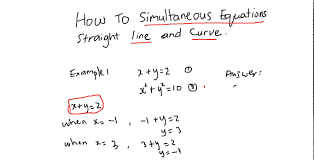 cxc csec cape maths how to solve simultaneous equations straight line and curve you