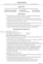 Sample Objectives In A Resume by Resume For Executive Management Supervision Susan Ireland Resumes