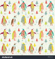 winter christmas background penguins stock vector 66042229
