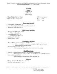 Admission Resume Sample by Sample College Application Resume The Best Resume