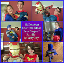 be a super family with super hero costumes