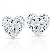 heart shaped diamond earrings mini heart diamond earrings in 14k white gold 1 3 ct tw
