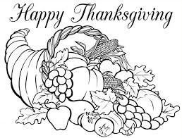 coloring page thanksgiving horn of plenty 5