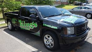 kings paving truck decals lettering ajr signs and graphics