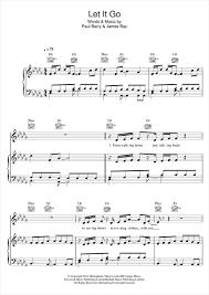 Chandelier Sia Piano Sheet Music Let It Go Piano Sheet Music By James Bay Piano Voice Guitar Rhm