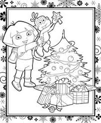 dora explorer printable coloring pages splash summer