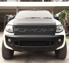 front grill ford ranger plastic matte black front grille grill rapter style ford