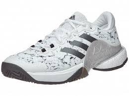 tennis warehouse black friday adidas barricade 17 boost white silver black men u0027s shoe