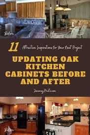 how to update oak kitchen cabinets before and after updating oak kitchen cabinets before and after 11
