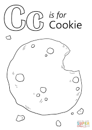 letter cookie coloring free printable coloring pages