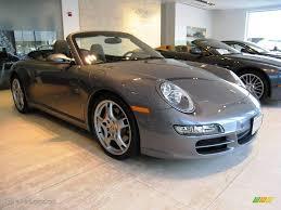 grey porsche 911 convertible 2006 seal grey metallic porsche 911 carrera s cabriolet 17688614