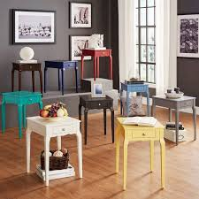 Accent Side Table Bold Accent Single Drawer Side Table Free Shipping Today