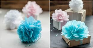 gift wrap tissue paper how to make tissue paper flowers for gift wrapping how to