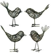 birds metal garden statues lawn ornaments ebay