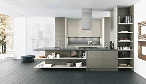Kitchen  Gray Tile Floor White Kitchen Cabinets White Wall - White kitchen wall cabinets