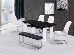 white table with bench high gloss glass dining table with 4 chairs bench homegenies